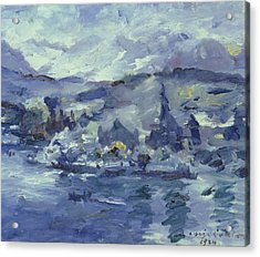 Afternoon On Lake Lucerne Acrylic Print by Lovis Corinth