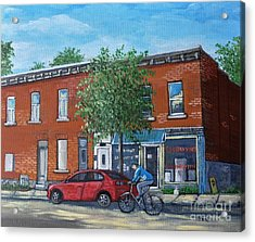 Afternoon Ride Pointe St Charles Acrylic Print by Reb Frost