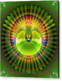 Acrylic Print featuring the digital art Afternoon Sunrise by Visual Artist Frank Bonilla