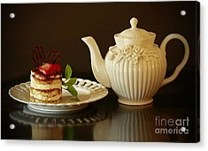 Afternoon Tea And Tiramisu Acrylic Print by Inspired Nature Photography Fine Art Photography