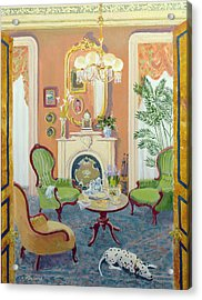 Afternoon Tea Oil On Board Acrylic Print by William Ireland