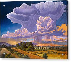 Acrylic Print featuring the painting Afternoon Thunder by Art James West