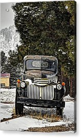 Afther The Snow Falls Verticle Acrylic Print by Ken Smith