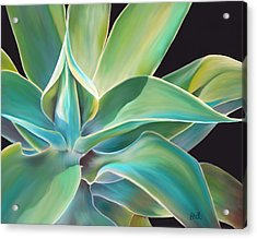 Acrylic Print featuring the painting Agave 2 by Laura Bell