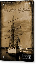 Age Of Sail Poster Acrylic Print by John Malone Halifax photographer