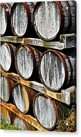 Aged Wine Acrylic Print by Frozen in Time Fine Art Photography