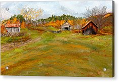 Aged With Character-farm Life Acrylic Print by Lourry Legarde