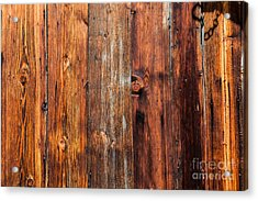 Acrylic Print featuring the photograph Aged Wood by Charles Lupica