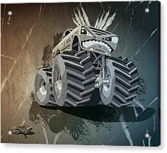 Aggressive Monster Truck Grunge Acrylic Print