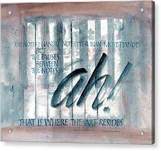 ah Music Acrylic Print by Judy Dodds