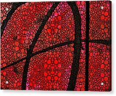 Ah - Red Stone Rock'd Art By Sharon Cummings Acrylic Print