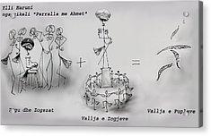 Ahmet Zogu Perralla Me Mbret Acrylic Print