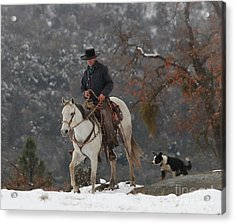 Ahwahnee Cowboy Acrylic Print by Diane Bohna