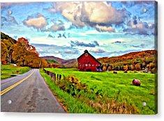Ah...west Virginia Oil Acrylic Print by Steve Harrington