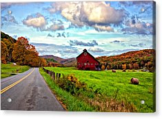 Ah...west Virginia Painted Acrylic Print by Steve Harrington