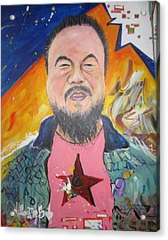 Ai Weiwei Acrylic Print by Erik Franco