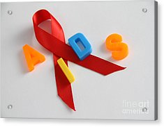 Aids Awareness Symbol Acrylic Print