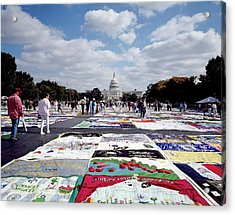 Aids Quilt Acrylic Print by Carol M. Highsmith Archive, Library Of Congress