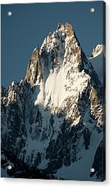 Aiguille Des Grands Charmoz Acrylic Print by Duncan Shaw
