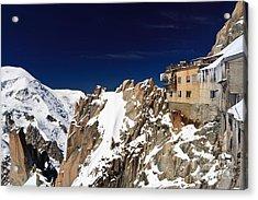 Aiguille Du Midi -  Mont Blanc Massif Acrylic Print by Antonio Scarpi