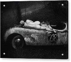 Aimee & Jaguar Acrylic Print