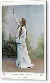 Aino Ackte  Finnish Opera Singer, Seen Acrylic Print by Mary Evans Picture Library
