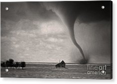Acrylic Print featuring the painting Ain't It Grand The Winds Stop Blowing by Gregory Dyer