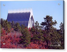 Air Force Academy Chapel In Autumn Acrylic Print