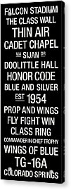 Air Force College Town Wall Art Acrylic Print by Replay Photos