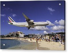 Air France St. Maarten Landing Acrylic Print by David Gleeson