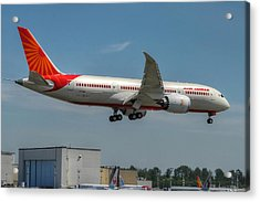 Acrylic Print featuring the photograph Air India 787 by Jeff Cook