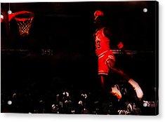 Air Jordan Crusing Altitude Acrylic Print by Brian Reaves