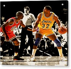Air Jordan On Magic Acrylic Print by Brian Reaves