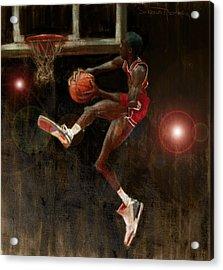 Air Jordan Acrylic Print by Jumaane Sorrells-Adewale