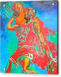 Air Jordan Acrylic Print by Steven Mockus