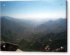 Air Pollution Over Sequoia National Park Acrylic Print