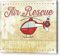 Air Rescue Acrylic Print by Jennifer Pugh