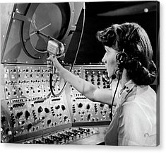Air Traffic Control System Acrylic Print by Underwood Archives