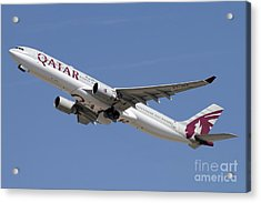 Airbus A330-300 Of Qatar Airways Acrylic Print