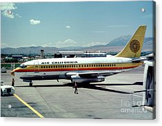 Aircal Boeing 737 Acrylic Print by Wernher Krutein