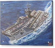 Aircraft Carrier Cvn-70 Carl Vinson Acrylic Print by Jose Bernal