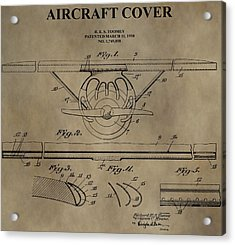 Aircraft Cover Patent Acrylic Print