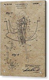 Aircraft Gunnery Device Patent Acrylic Print