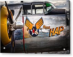 Aircraft Nose Art - Pinup Girl - Miss Hap Acrylic Print