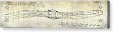 Aircraft Propeller Blueprint Drawing Acrylic Print