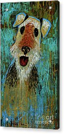 Airedale Terrier Acrylic Print by Genevieve Esson