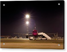 Airplane At Dawn Acrylic Print