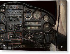 Airplane - Piper Pa-28 Cherokee Warrior - A Warriors View Acrylic Print by Mike Savad