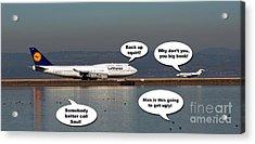 Airplane Stalemate   Acrylic Print