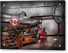 Airplane - The Repair Hanger  Acrylic Print